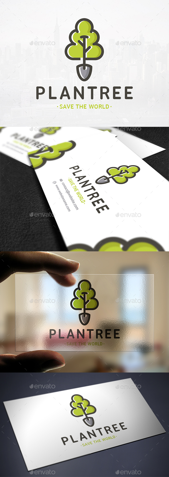 Plant a Tree Logo Template - Nature Logo Templates