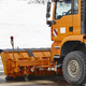 Snow blower truck ready to work. Winter time. Snowing. Horizontal - PhotoDune Item for Sale