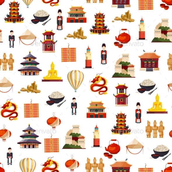 Vector flat style china elements pattern by onyxprj graphicriver vector flat style china elements pattern miscellaneous vectors toneelgroepblik Image collections