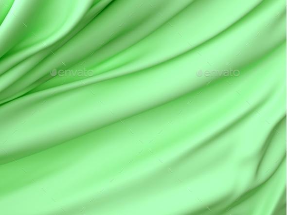 Abstract Texture, Green Silk