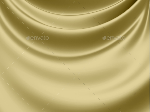 Abstract Texture, Yellow Silk - 3D Backgrounds