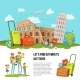 Vector Concept Illustration Italian Sights - GraphicRiver Item for Sale