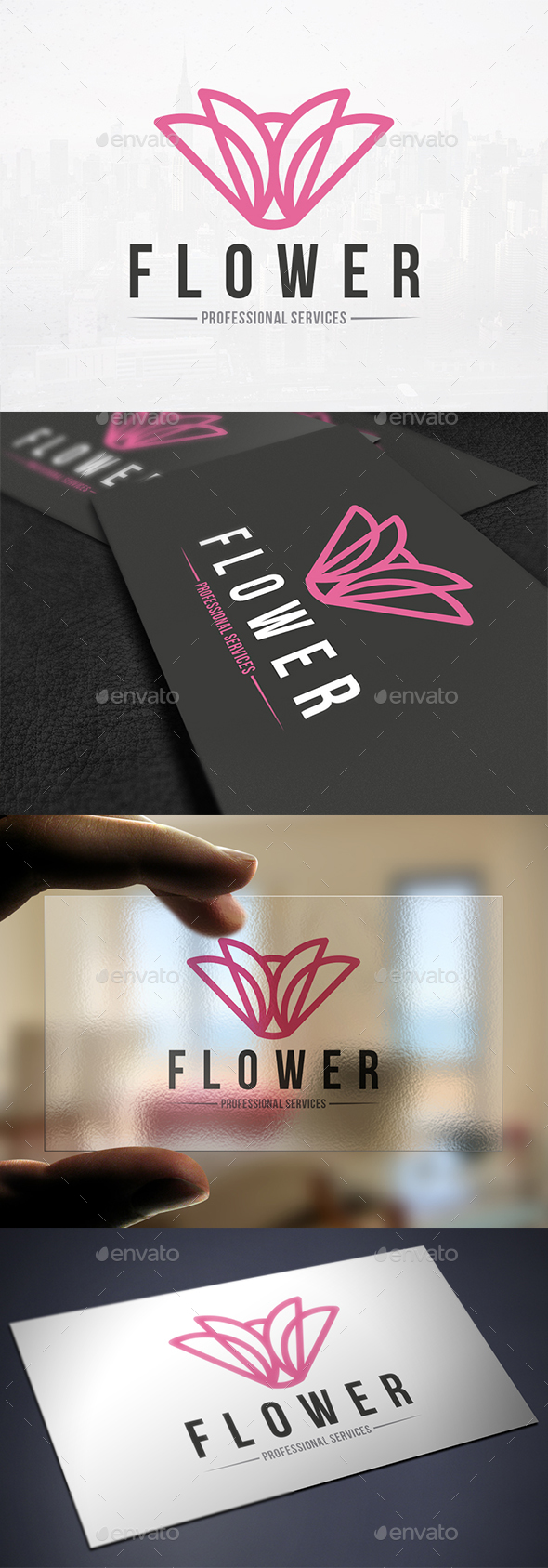Pink Flower Logo Template - Nature Logo Templates