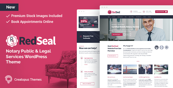 RedSeal - Notary Public and Legal Services WordPress Theme