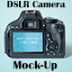 DSLR Camera MockUp Photorealistic