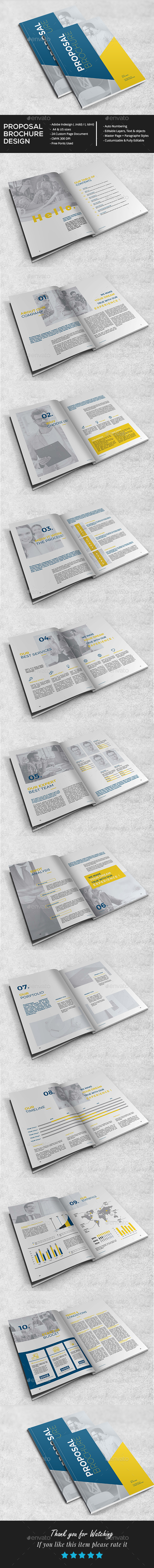 Stylish Proposal Brochure - Brochures Print Templates