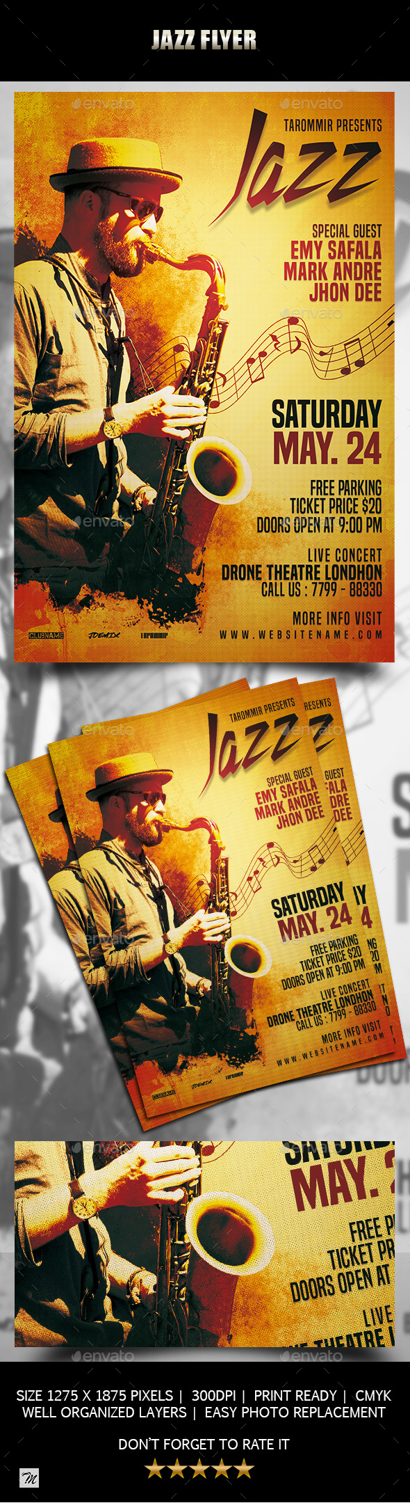 Jazz Flyer - Concerts Events
