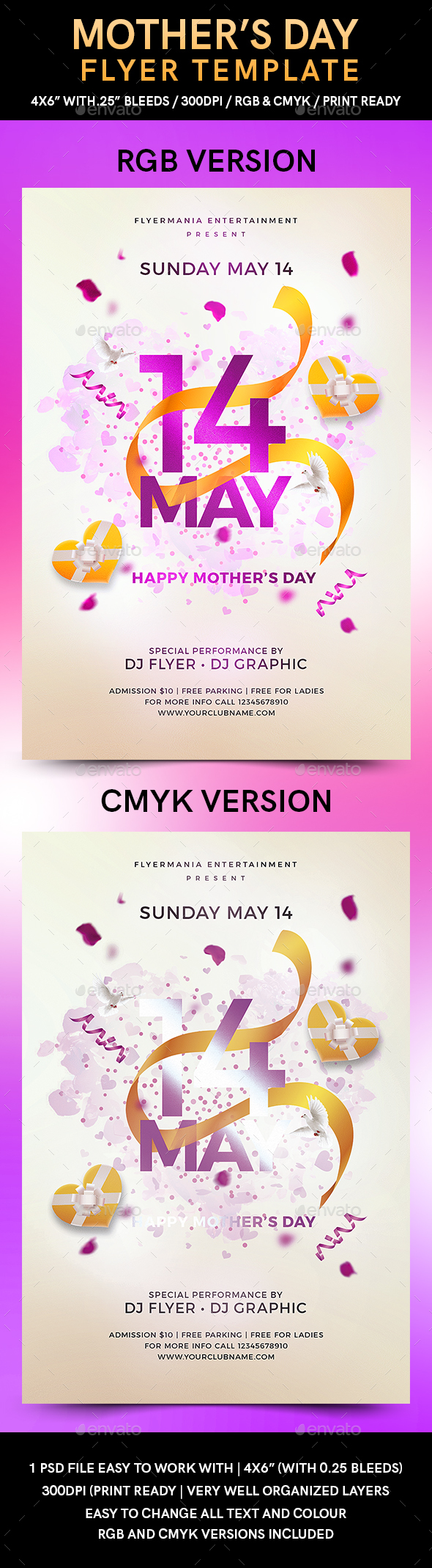 Mother's Day Flyer Template - Flyers Print Templates