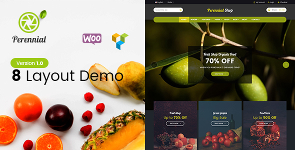 Perennial – Store WooCommerce WordPress for Organic Food Theme