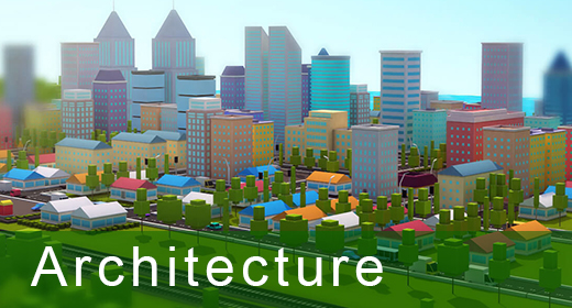 Architecture low poly