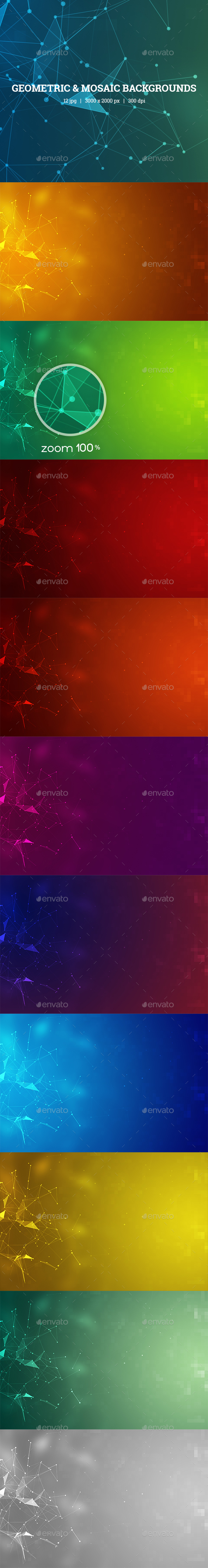 Geometric & Mosaic Backgrounds - Backgrounds Graphics
