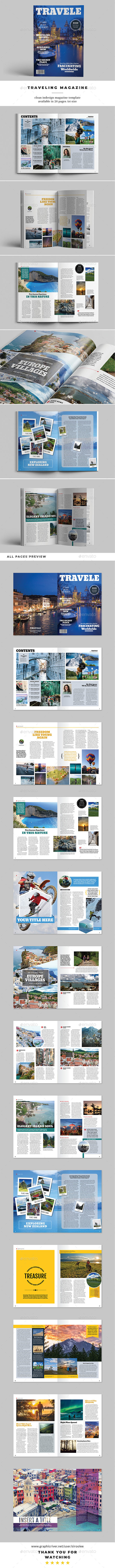 A4 Traveling Magazine - Magazines Print Templates