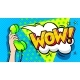 Wow Word Bubble in Pop Art Comics Style - GraphicRiver Item for Sale