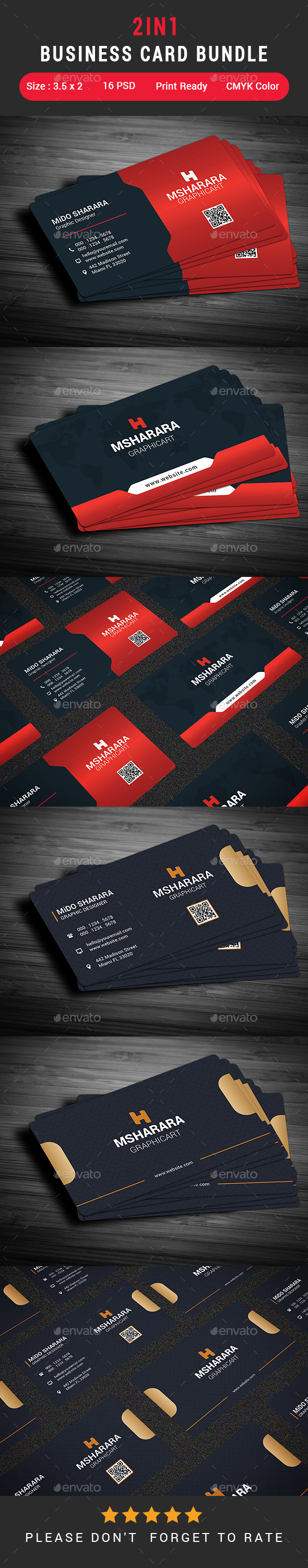 2 in 1 Business Card Bundle - Corporate Business Cards