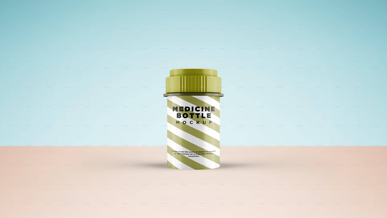 Medicine Bottle Mockup - V2