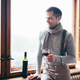 Hansome man enjoying a glass of red wine - PhotoDune Item for Sale
