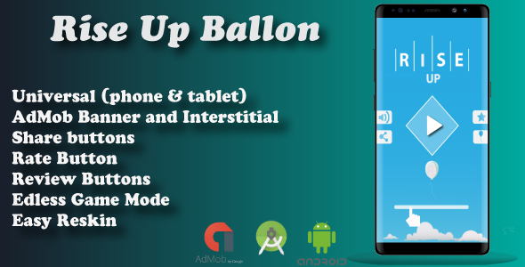 Rise Up Baloon + Admob ( Android Studio ) Easy Reskin - CodeCanyon Item for Sale