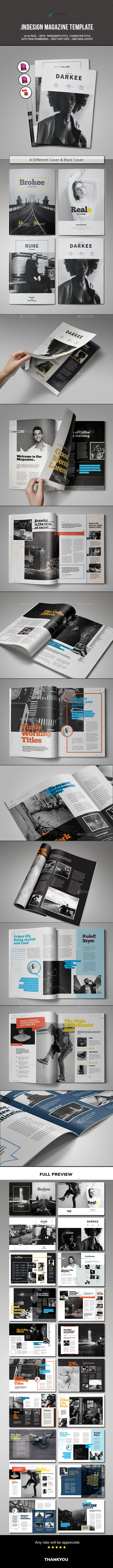 Indesign Magazine Template By Spidergraph Graphicriver