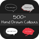 500 Hand Drawn Callouts Pack - VideoHive Item for Sale