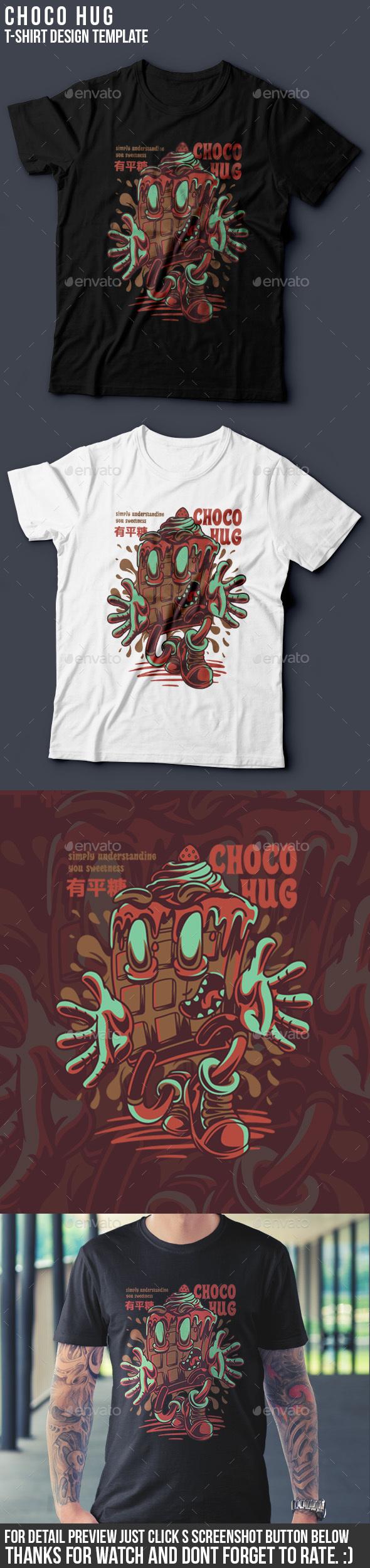 Choco Hug T-Shirt Design - Business T-Shirts