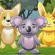 Dog, Koala and Bunny Characters for 2D Jumping Game
