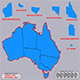 Map Australia with separate provinces - 3DOcean Item for Sale
