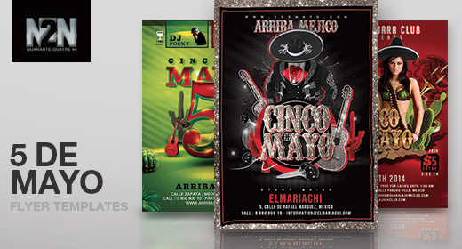 n2n44 cinco de mayo flyer templates