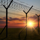 Boundary Fence on Sunset 4K - VideoHive Item for Sale