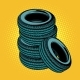 A Stack of Car Tires - GraphicRiver Item for Sale