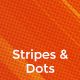 Stripes & Halftone Dots Backgrounds