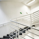 Modern empty staircase with white wall. - PhotoDune Item for Sale