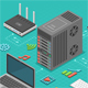 Data Network Isometric Concept - GraphicRiver Item for Sale