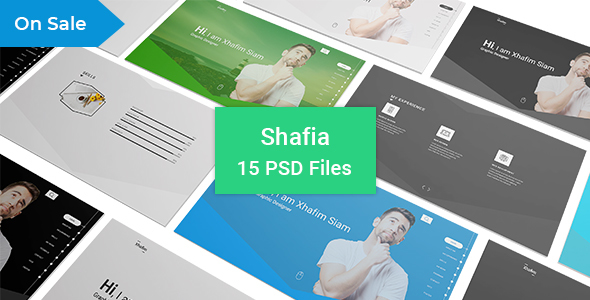 Shafia Freelancer Portfolio & Resume PSD Template - Portfolio Creative