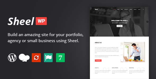 Sheel - Creative Agency and Business Landing Page WordPress Theme - Marketing Corporate