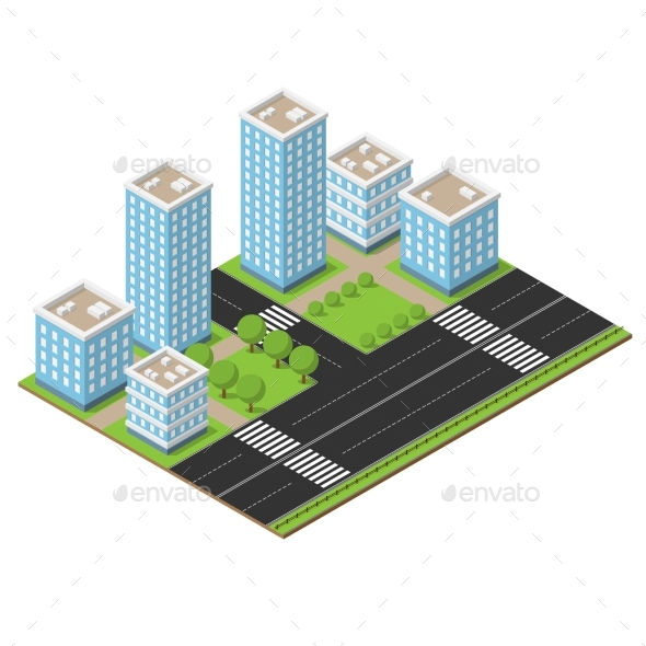 Isometric City Part - Buildings Objects