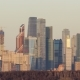 Moscow City Business Center at Sunset. Russia - VideoHive Item for Sale