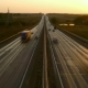 Cars on Highway Road at Sunset, ,