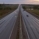 Cars on Highway Road in Dusk, ,