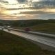 Cars on Highway Road at Sunset, , - VideoHive Item for Sale