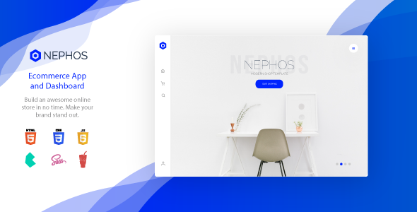 Nephos - Modern Bulma Ecommerce App and Dashboard