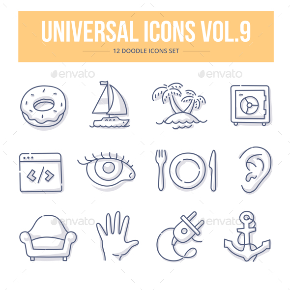 Universal Doodle Icons vol.9 - Objects Icons