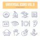Universal Doodle Icons vol.9 - GraphicRiver Item for Sale