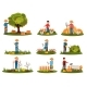Flat Vector Set of Farmer Characters Working - GraphicRiver Item for Sale