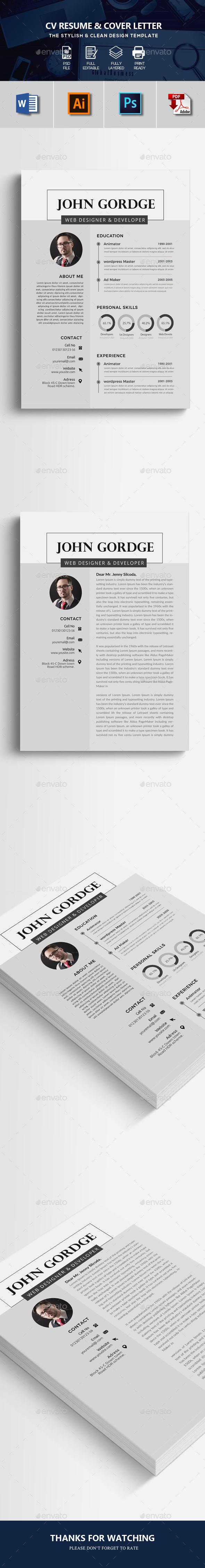 CV Resume Word Format - Resumes Stationery