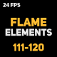 Liquid Elements 2 Flames 111-120 - VideoHive Item for Sale