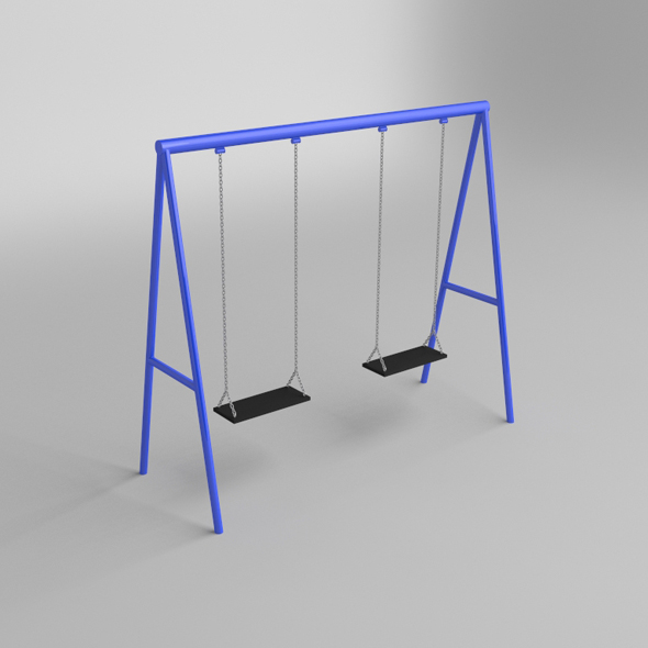 Playground Swing - 3DOcean Item for Sale