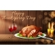 Happy Thanksgiving Day Vector Realistic Background