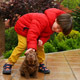 Child Caress his Shar Pei Puppy - VideoHive Item for Sale