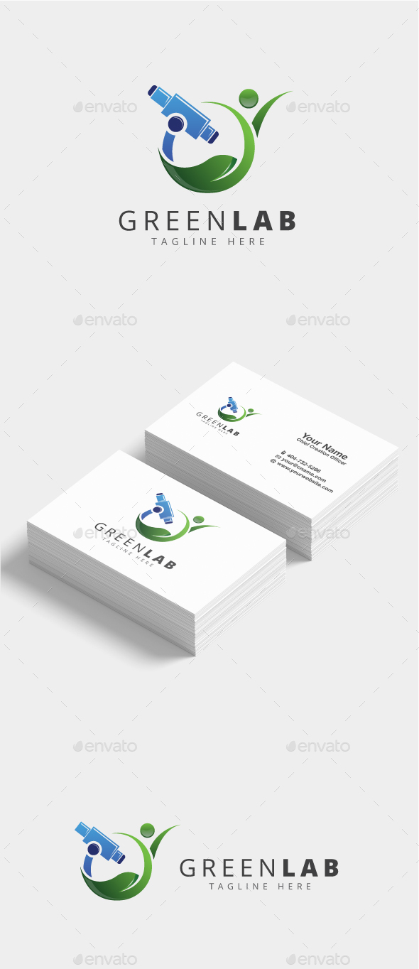 Green Lab Logo - Nature Logo Templates