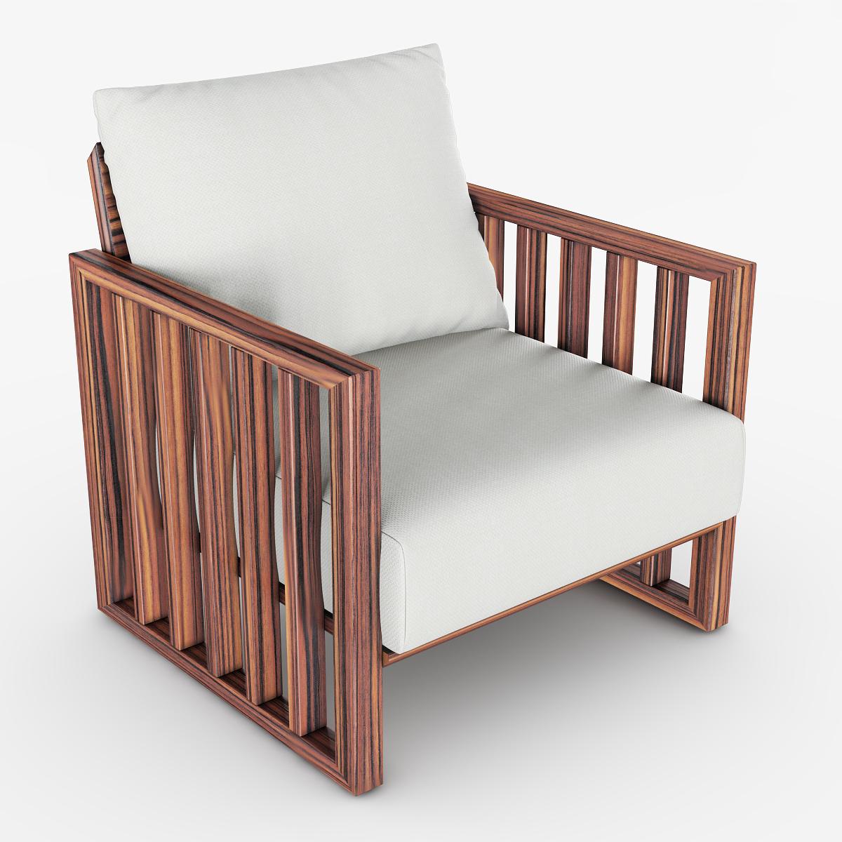 Armchair cloth white